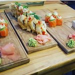 Best sushi in town. Crispy prawn roll and salmon roses.