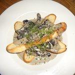 Field Mushrooms with Stilton Cream Sauce & Toasted Ciabatta
