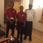 The lovely Staff who celebrated my Bday