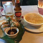 Spring Rolls, Soup, and 33 Beer!