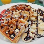 The decadent waffles!