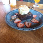 The yummy brownie from the cafe