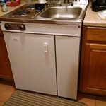 Cute Combination Fridge, Stove and Sink in Kitchenette