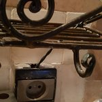 electric improvisation in bathroom