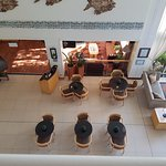 Looking down into the Breakfast area