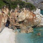 The Beach 10 minutes drive (Milopotamus)