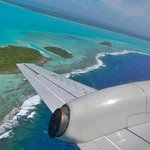 Im Anflug auf Aitutaki