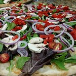 Mesculin Salad Pizza (A Refreshing Summer Favorite)