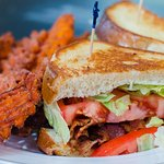 BLT with Sweet Potato Fries