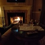 Fireplace at night