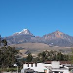 Uitzicht op één van de vulkanen