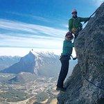The classic Banff Via Ferrata shot.