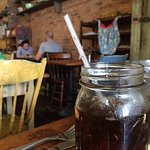 Soda in a mason jar!