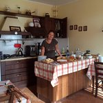 Hostess Sarah in her lovely kitchen