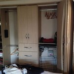 Caravan bedroom (lots of wardrobe space)