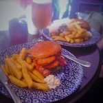 Buttermilk chicken burger and chips! Best chips you will ever have.