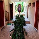 The pretty main entry hallway