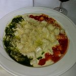 "Gnocchi ""colores de italia"" (Pesto, bechamel y napolitana) Exquisitos!."