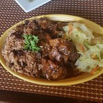 Lunch Portion of Oxtails and Rice and Peas - Quite Yummy