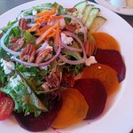 Beet and chevre salad that was second to none.....This was both refreshing and yummy. Perfect lu