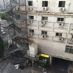 Вид из окна 4 этаж