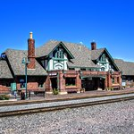 Flagstaff Depot on Labor Day 2016. Did u know that white spec on the top is a webcam for visitor