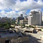 Ocean & street view from hotel room