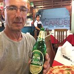 Tasty Margherita Pizza & Chang beer less than 300 THB. I'm from Chicago and I eat a lot of pizza