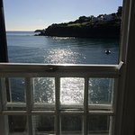 The view of Portmellon Bay out of our window