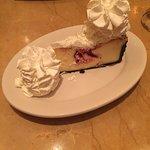 White chocolate and raspberry truffle cheesecake