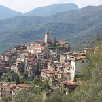 A view of Apricale from above the village.