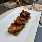 Medium rare iberico pork