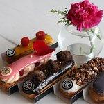 Mango Passionfruit, Ispahan, Dark Chocolate, Vanilla & Pecans