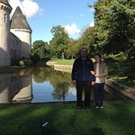 Count and Countess by the moat