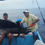 Greg Jr with first Sailfish - Catch and Release always!