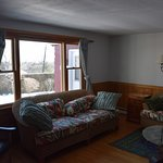 Living room area of Hither Cottage.