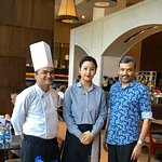 With Chef Srikanth and Hostess Pema