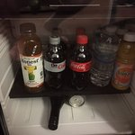 Room 306 (Handicapped Suite) - mini bar (free except for booze)