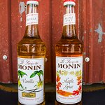 Only the best Monin Syrups are used in our flavored drinks!