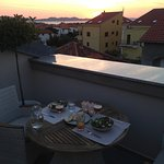 Dinner on the private terrace during sunset