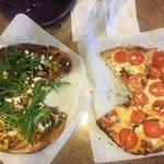 2 Medium pies arugula / tomato ...check the crust