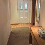 Hallway to front door from kitchen area
