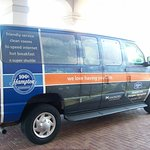The Hotel's personal Shuttle Service Van.