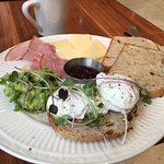 Healthy breakfast at the coffee shop. Great coffee as well.