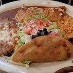 Enchilada and Crispy Taco Plate