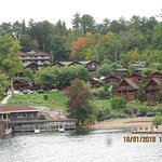 view of resort from lake