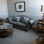 Separate sitting room in suite