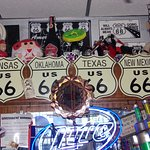 Above the bar at Weezy's Route 66 Bar and Grill