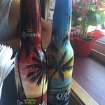 Colorful Corona Salt and Pepper SHakers, Gary's Bistro ,115 West Second,Qualicum Beach