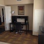 Work area in bedroom, 1-room suite